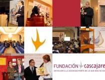 Collage de fotografías de la Fundación Cascajares y su obra social