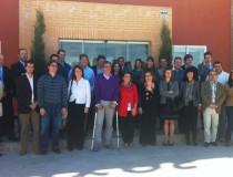 Foto de familia de los Jóvenes Empresarios de Castilla y León que han visitado Cascajares