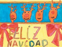 Dibujo que ilustra nuestra felicitación de Navidad, obra de la niña Ana Martínez